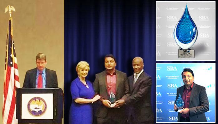 US Govt. SBA Honored Prabhu Patil as the Entrepreneurial Success of the Year